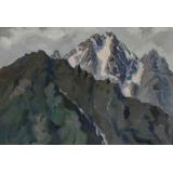 Вершины гор. Балкарское ущелье