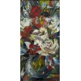 Букет с красными и белыми розами