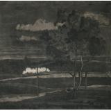 №6а Пейзаж с поездом